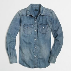 J. Crew Factory | Two Pocket Chambray Denim Shirt